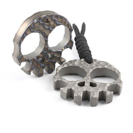 self defense multi tool Australia - Skull Skeleton Ti Titanium bottle openers punch daggers outdoor Finger Buckle Survival pocket EDC Self Defense Knucks knuckle Multi tools456
