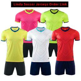 T-Shirts Jersey Linda Jersey Customers Order Link Kids kits With Socks Mens Short Sleeve Kit long T-Shirts