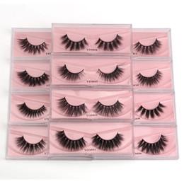 3D Mink Magnetic Eyelashes 12 estilos Faux Natural Pestañas Falsas Petras en venta