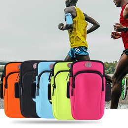 Wholesale Universal Arm Bag for Smartphone MP3 MP4 Waterproof Armbands Outdoor Sports Armband Protective Holder Pouch Case Bags with Earphone Hole