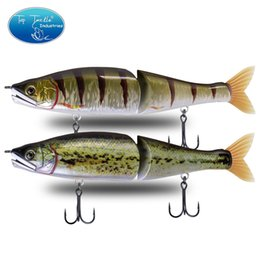 artificial baits for fishing Australia - artificial swimbait slow sinking fishing lure 220mm New Baby Bass Color Big Bass Fishing Jointed Baits for Pike musky wobbler 201106