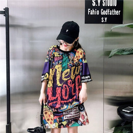 hip hop designs for t shirts NZ - Harajuku Fashion Women T Shirts Long Design Tee shirt For Women Funny Printed Letter Tops Tee Hip Hop Dance Clothes M-XXL Y200111