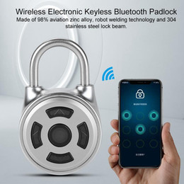 electronics cabinets Canada - Portable Bluetooth Smart Fingerprint Lock Padlock Anti-Theft iOS Android APP Control door cabinet padlock Electronic Locker