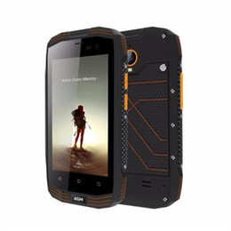 Wholesale AGM A2 Rio 4.0 inch IP68 Waterproof Outdoor Android 5.1 MSM8909 Quad Core 2G RAM 16G ROM NFC 4G Mobile Phone