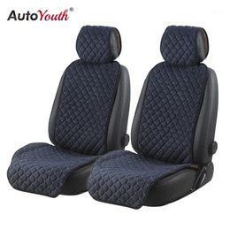 cotton trucks Australia - 2 for Car Seat Cushions AUTOYOUTH Car Blue Breathable Trucks Cover Protector Universal Cotton Non-slip1 SUV Seat Seats Dark Dgxtc