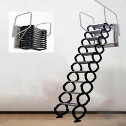 Großhandel Professionelle Handwerkzeugsets 3,1-3,5m Outdoor Hanging Retracable Treppenhaus Manuelle Wandmontierte Faltleiter Tragbare Treppen Haushaltset