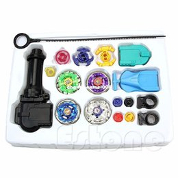 beyblade toys sale Canada - Beyblade Metal Spinning Beyblade Sets Fusion 4D 4 Gyro Box Fight Master Beyblade String Launcher Grip For Sale Kids Toys Gifts
