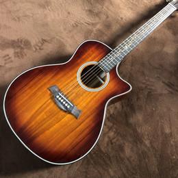 Wholesale Guitarra acústica e sólida chaylor k24ce, mais nova de 2020, cor de madeira natural, k24 koa guitarrista elétrica cortada, 41 polegadas, fre