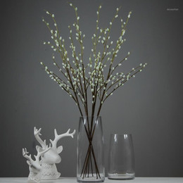 "Discount pussy faking Artificial Pussy Willow Branches 37"" Fake Willow Stems Birch Branch for Home Kichen Table Centerpiece Decor1"