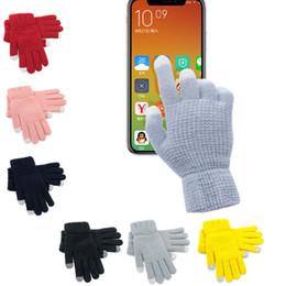 Venta al por mayor de Guantes de pantalla táctil de alta calidad para hombres Mujeres Invierno Mittens Cálido Femenino Invierno Finger Finger Stretch Cómodo Guante de cálido transpirable