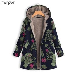 Wholesale long padded coat sale resale online – SWQZVT Long Women Winter Coat Jacket Hot Sale Fashion Print Cotton Padded Warm Women Clothes Fashion Coat