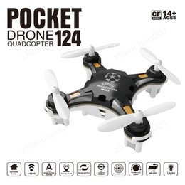 Wholesale new Cheap FQ777-124 Pocket Drone 4CH 6Axis Gyro Quadcopter Drones With Switchable Controller Key To Return RTF UAV RC Helicopter Mini Drones
