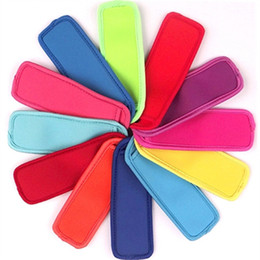 Neoprene Freezer Popsicle Covers Colorful Ice Pop Sleeves Reusable Popsicle Holders Bags For Kids Party Drink FWB628 on Sale