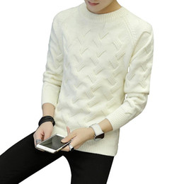 Wholesale sweaters for mens for sale – oversize Black White Thick Sweater Long Leeve for Men Solid Loose Fashion Sweater Knitted Japan Style Mens Designer