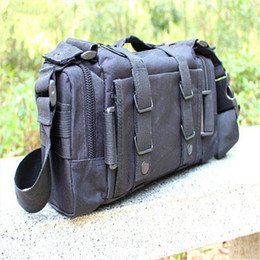 camera waist bags Canada - Shipping Bag Waist Camouflage Shoulder Military Single Camera HENGSONG Messager Bag Pack Canvas 641456 Drop Waist Mmvvq