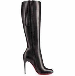 tall fall boots 2021 - Famous Winter Women's Red Bottom Boots Bianca Botta Tall Boots High Heels High Quality Brands Red Sole Booty Knee B
