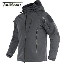Wholesale lining soft jacket for sale – winter TACVASEN Tactical Fleece Lined Waterproof Jacket Mens Military Air Soft Jacket Coat Safari Windbreaker Winter Warm Army Jacket