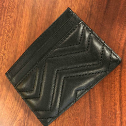 Top quality Men Classic Casual Credit Card Holders cowhide Leather Ultra Slim Wallet Packet Bag For Mans Women w10*h7 on Sale