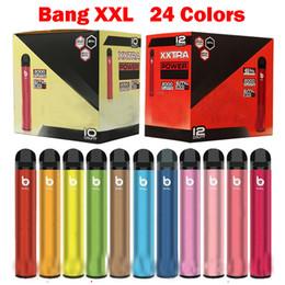 venda por atacado Bang XXL 2000Puffs Cigarros Cigarros Vape Cartucho Caneta 800mAh Bateria XXTRA Pré-preenchido PODs 6ml