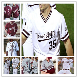 Individuelle 2020 Texas AM Aggies College-Jersey Baseball Will Frizzell Zach DeLoach Hunter Coleman Bryce Blaum Austin Bost Christian Roa Nelson