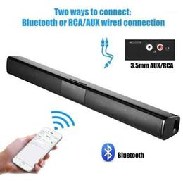 Hemteater Portable Wireless Bluetooth Högtalare Kolumn HiFi Stereo Bass Sound Bar FM Radio USB Subwoofer för dator Telefon1