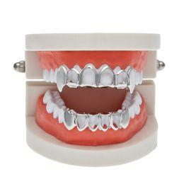 Wholesale AIYANISHI Micro Setting Hip Hop Teeth Grills Fashion Hip Hop Tiger Tooth Jewelry Hot Sale Jewelry