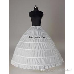 6 jupons de crinoline cerceau pour robe de boules robe de robe de mariée crinoline crinoline nuptiale pondre jupe de la quinceanera robe CPA206 en Solde