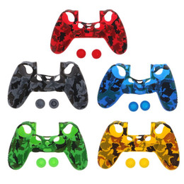 Wholesale For PS4 Controller Camouflage Protective Silicone Rubber Case Cover Skin Soft Gamepad controle Protective Case Skin Gel Cover