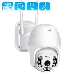 1080P PTZ IP Camera Outdoor 4X Digital Zoom Speed Dome WiFi Camera 2MP Audio AI Human Detection Super Mini Home Security Camera on Sale
