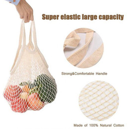 Wholesale breasts cup sizes for sale - Group buy Shopping Grocery Bag Reusable Shopper Tote Fishing Net Large Size Mesh Net Woven Cotton Bags Portable Shopping Bags Home Storage Bag CCE3723
