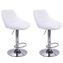 WACO Современные барные стулья высокий тип инструмента, 2 шт. Регулируемый стул дисковый ромб спинка дизайн ресторана столовая столовая стулья белый на Распродаже