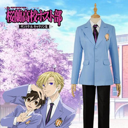 Wholesale host clothing resale online - Ouran High School Jacket Tie Host Club Haruhi Shirt Pants Cosplay Costume Outfit Clothing For Adult Halloween Party