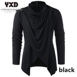 Wholesale shawl collar cardigan men resale online – New Male Knitwear Men Asymmetrical Cardigan Casual Knitted Man Sweaters Shawl Collar Open Front Overlap Men s Sweater
