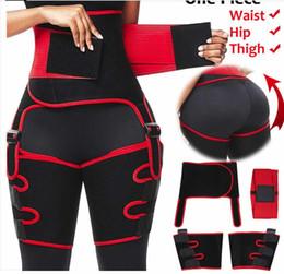 Wholesale compressed pants resale online – 3 in Women Hot Sweat Slim Thigh Trimmer Leg Shapers Push Up Waist Trainer Pants Fat Burn Neoprene Heat Compress Slimming belt KKA1576