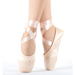 Drop-shipping Child and Adult pointe ladies professional ballet dance ribbons woman girl shoes 201017 on Sale