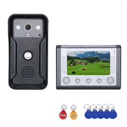 Wholesale Visual Intercom Doorbell 7'' TFT Color LCD Wired Video Door Phone System Indoor Monitor 700TVL Outdoor IR Camera Support Unlockr1