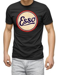 cheap vintage t shirts Australia - Esso Motor Sport Oil Tee Racing Touring Can Vintage Tee Black Cheap Wholesale Tees For Mant Printing Sport Hooded Sweatshirt Hoodie T Shirt