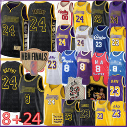 LeBron 23 6 James Basketball Jersey BRYANT Carmelo 8 24 Anthony Los AngelesLakersKobeEarvin Anthony Johnson Kyle Davis Kuzma on Sale