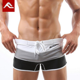 Wholesale shorts for swim resale online - ACEFIT Brand Swimming Trunks Swimsuit Man Gay Swimwear Mens Boxer Sexy Bathing Suit Swiming Shorts For Male Swim Wear M XXL1