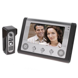 venda por atacado Visual Intercom Doorbell 7 '' TFT a cores LCD Vídeo Wired porta telefone Sistema Indoor Monitor de 700TVL Outdoor IR Camera Unlock Suporte