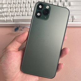 Wholesale Black Back Cover Housing For iPhone X Xs Mas like 11 Pro  11Pro Max Aluminum Metal Back Battery Door Cover Replacement