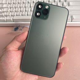 Ingrosso Custodia per il coperchio posteriore nero per iPhone X XS Mas Like 11 Pro / 11Pro Max in alluminio in metallo Batteria posteriore della batteria sostituzione
