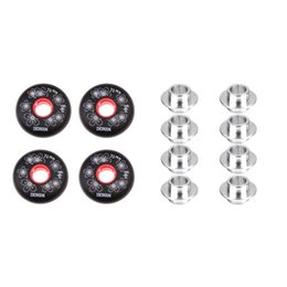 8 pièces en alliage Skate + 8 mm Roulement Spacers 4pcs Rouleau Inline Hockey Fitness Skate Wheel 72 mm en Solde