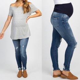Pantalones Vaqueros De Maternidad Embarazada Oferta Online Dhgate Com