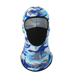 hooded winter mask UK - Dhl Shipping Windproof Bandana Hat Hooded Neck Winter Sports Breathable Face Mask Halloween Men Bike Motorcycle bbyZRB ladyshome