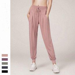 2020 Lu fitness lu Sports Pants Women Waist Seamless Gym Capri Sportswear Stretchy Push Up pants Leggings women Yoga Pants vfu 2020 q7Of#