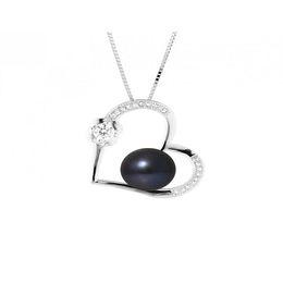 Perlinea Collar Love Cultured Freshwater Pearl Diámetro 910 mm Negro Tahití Mujer Joya 925 Plata esterlina en venta