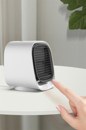 Wholesale FreeShipping Mini Portable Air Conditioner Multi-function Humidifier Purifier USB Desktop Air Cooler Fan with Water Tank Home 5V