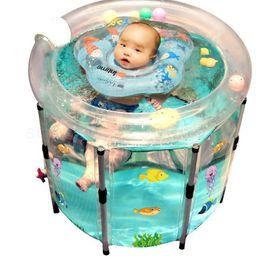 Ванные ванны сиденья 9999 Младенческое плавательное ведро домашнее детское ванна крытый надувные прозрачные родины детей расстроены изоляционные бочки на Распродаже