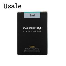 2 PCS / Pack Uwell Caliburn g Vazio Pod Cartridge 2ml Capacidade Tanque Atomizador Recarregável para Caliburn G POD Kit 100% Original em Promoção